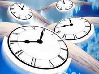時間が飛んで行くイメージ
