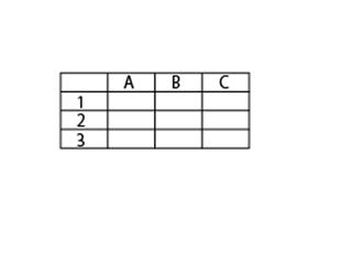 シンプルな表のサンプルです。