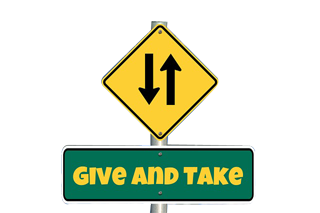 Give and Takeをイメージしています。