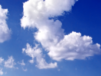 時の流れを雲の流れで表現