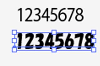 フォントによる大きさ等の違い