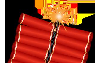 爆竹のイメージ
